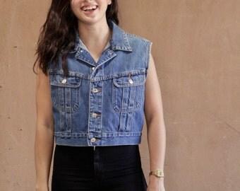 vintage mid 90s RALPH Lauren vintage 90s DENIM blue jean vest