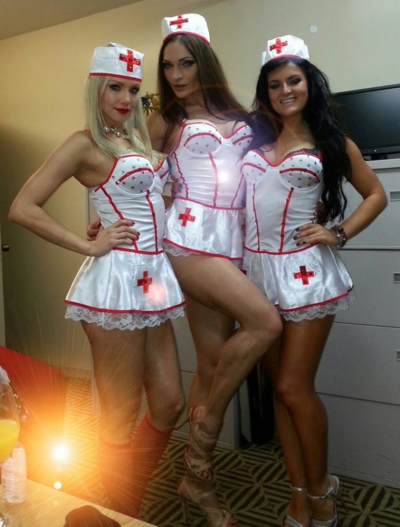Sale Sexy Nurse Doctor Halloween Costume Dress Up Theme Party-1529