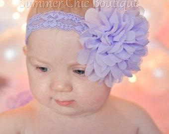 Baby Headband, Headband,  Infant Headband, Newborn Headband,Easter Headband,  Lavender Headband, Lavender Headband, Light Purple Headband
