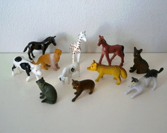 11pcs MINI animals for shadow box n craft projects