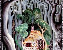 Art by Kay Neilsen (c 1921) from Hansel and Gretel And Other Stories  -  Vintage Art, Story Book Art, Family Art, Children's Art