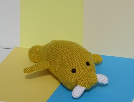 Amigurumi Walrus : Crochet Walrus Crochet Stuffed Toy by FlossFlowersandCraft ...