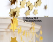Rustic gold garland - Christmas Garland - Shimmer Gold Decor - Home Decor - As seen on EMMALINE BRIDE