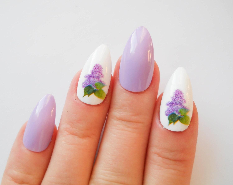 Almond Nails Purple Nails