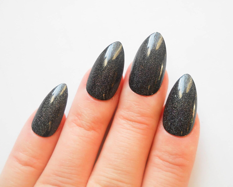 Glitter Nails Almond