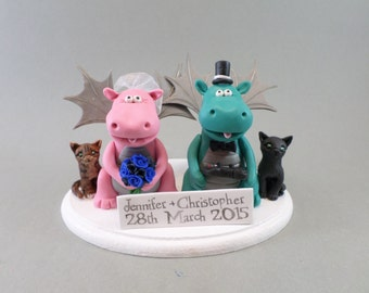 Custom Handmade Animal Wedding Cake Topper