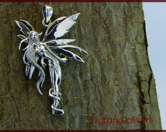 Fairy Sterling Silver 925 Pendant
