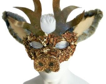 GRUFFLE - Rustic Animal Deer Stag Fairytale Masquerade Mask
