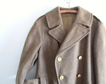 WWII US Army Double Breasted Wool Coat -SALE!