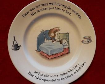 "Wedgwood Peter Rabbit Beatrix Potter child's plate 7"", vintage"
