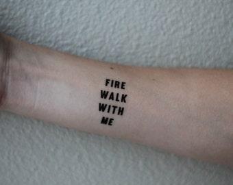 Twin Peaks Temporary Tattoo Pair