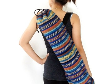 Handmade Yoga Mat Bag Yoga Bag Sports Bags Tote Yoga Sling bag Pilates Bag Pilates Mat Bag Woven Yoga Bag Women bag Woven Cotton bag (WF57)