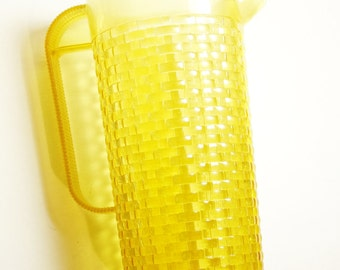 Vintage Wicker-Look Tall Plastic Pitcher