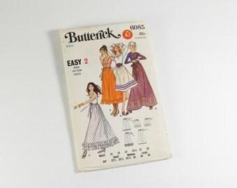 Butterick  6085 - Vintage 1950s-60s Misses Skirt Pattern in Size Medium