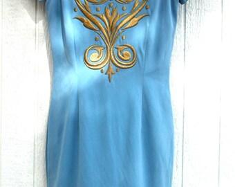AZURE BLUE night out dress XS