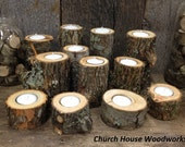 12 Irregular Tree Branch Candle Holders, Rustic Wedding Candle Holders, Rustic Wedding Centerpieces, Wood Candle Centerpieces