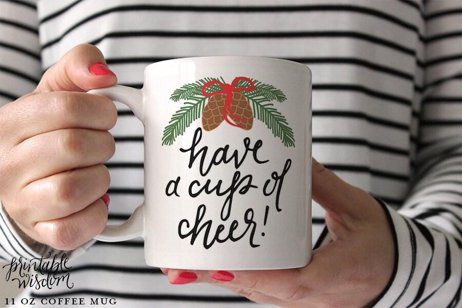 Christmas Coffee Mug Printable Wisdom Ceramic mug coffee