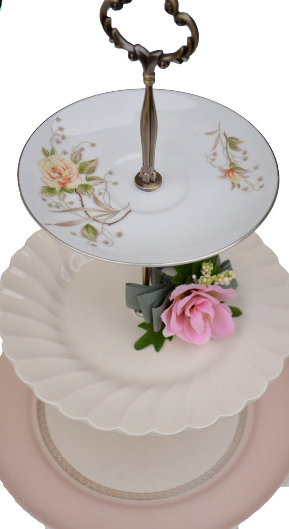 3 tiered stand pink serving tray wedding cake by simplychina. Black Bedroom Furniture Sets. Home Design Ideas