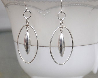 Sterling Silver Earrings, Statement Earrings, Dangle Earrings, Silver Dangle Earrings