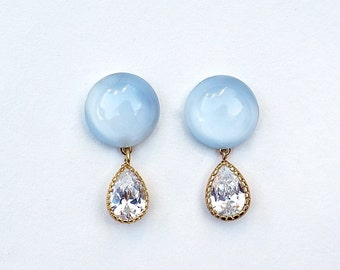 The Crying Full Moon Earrings