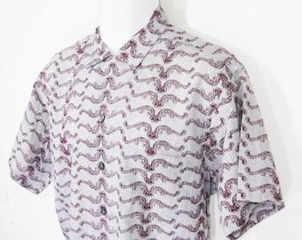 Vintage Neiman-Marcus Bronzini Shirt Sz.L 1950's