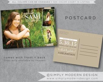 graduation, invitation, card, announcement, postcard, graduation postcard, PRINTABLE