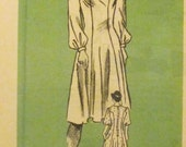 SALE Vintage 1970's Mail Order 4627 Sewing Pattern Dress Size 16 Peasant Dress Boho