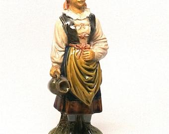 Bernard Bloch Majolica Pottery Peasant Match Holder Strike c1890