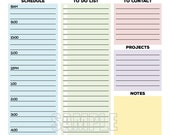 The Office Organizer - EDITABLE - Work planner, office planner, to do, planner, checklist, daily, weekly - INSTANT DOWNLOAD
