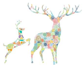 Woodlands Nursery Art, Deer Wall Decor, Deer Print, Baby Animal Print, Deer Nursery Art, Woodland Nursery Decor, woodland art, Baby nursery