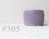 Linen crochet knitting weaving thread  - pastel purple # 505