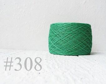 Linen yarn - bright  green #308