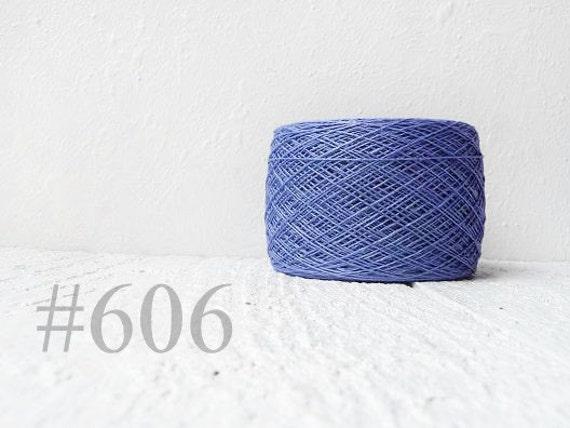 1 ball of natural Linen Yarn, linen thread, linen, Lithuania linen, denim, denim blue # 606