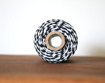 10m Bakers Twine - Black and White Baker's Twine, Cotton String, Packaging Supplies