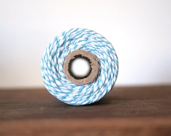 10m Bakers Twine, Pale Blue and White, Light Blue, Baby Blue