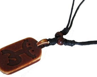 Coqui Taino Necklace - Tribal Frog Necklace - Indian Frog - Brown Frog Necklace