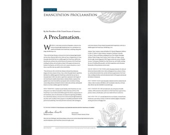The Emancipation Proclamation: An 18- by 24-inch print