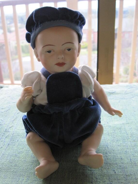 Antique Reproduction Porcelain Doll Robie By Kestner All
