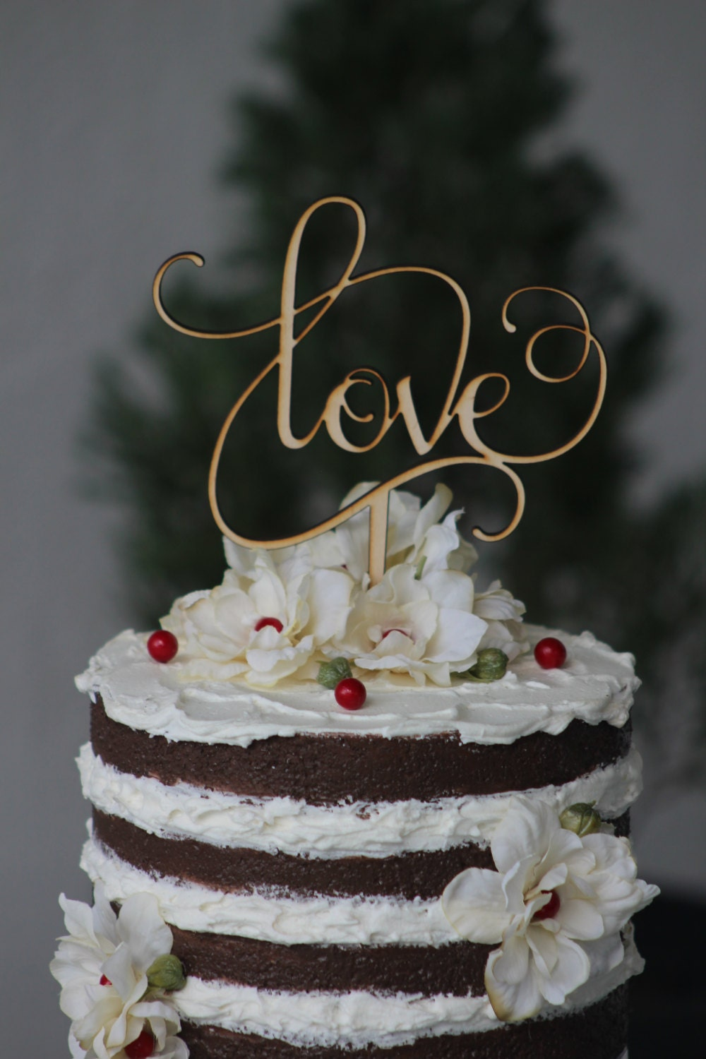 Etsy Love Cake Topper