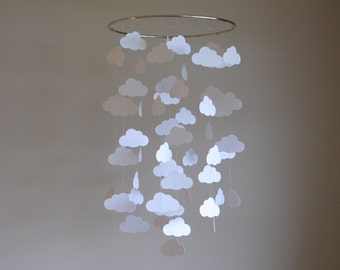 White Cloud Mobile // Nursery Mobile - Choose Your Colors
