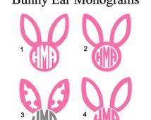 Unique Bunny Ears Monogram Related Items Etsy