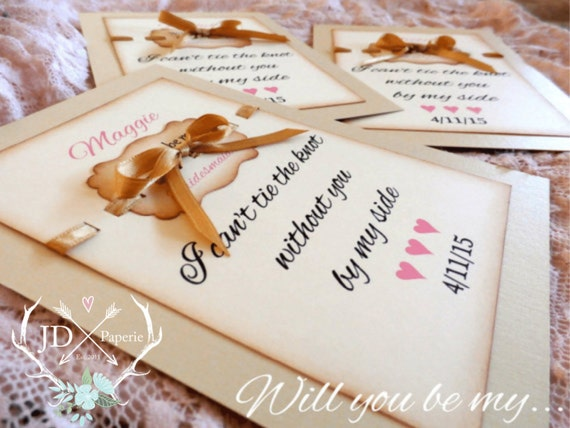 CUSTOM Bridesmaid Invitation - Will you be my Bridesmaid? I can't say I DO, without you - Maid of Honor, Matron of Honor, Flower Girl
