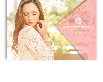 Senior Photography Marketing - 5x7 Promo Card Template - GLAM - 1269