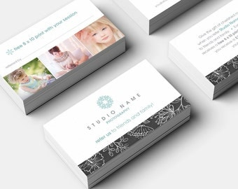 Photography Referral Card Photoshop Template - 1116