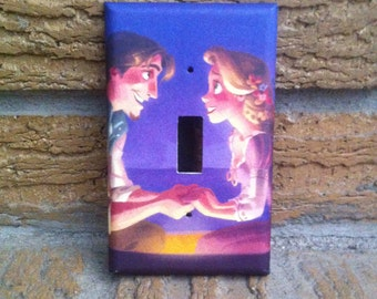 Rapunzel (Tangled) Light Switch Plate Cover, Tangled Decor, Rapunzel Decor, Repunzel Nursery, Repunzel Gift, Tangled Gift, TAN2