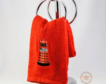"""Doctor Who """"Dalek"""" Inspired - Embroidered Hand Towel"""