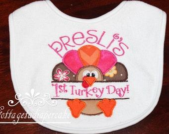 Baby's first thanksgiving, bib shirt, bodysuit ,1st thanksgiving,
