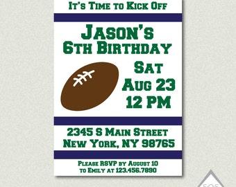 Football Birthday Invitation, Football Party Invite, Superbowl Party, Super bowl Invite, Sports Party, Printable Invitation, PDF, JPEG