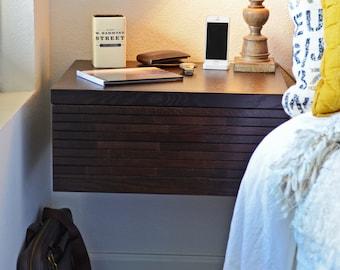 Floating Wall Mounted Night Stand Drawer Minimalist Hanging Nightstand - Mayan Espresso
