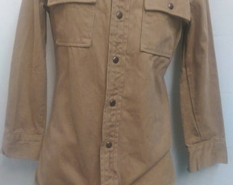 Men's Vintage Heavy Long-Sleeve Button-Up by Leggs Size Small